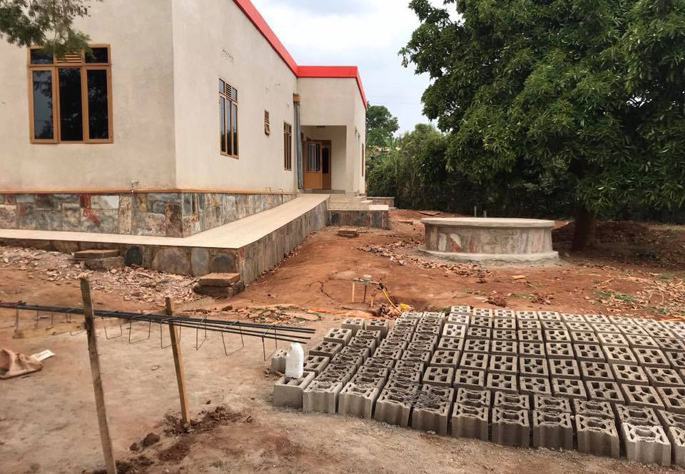 Image of medical clinic being built in Rwanda