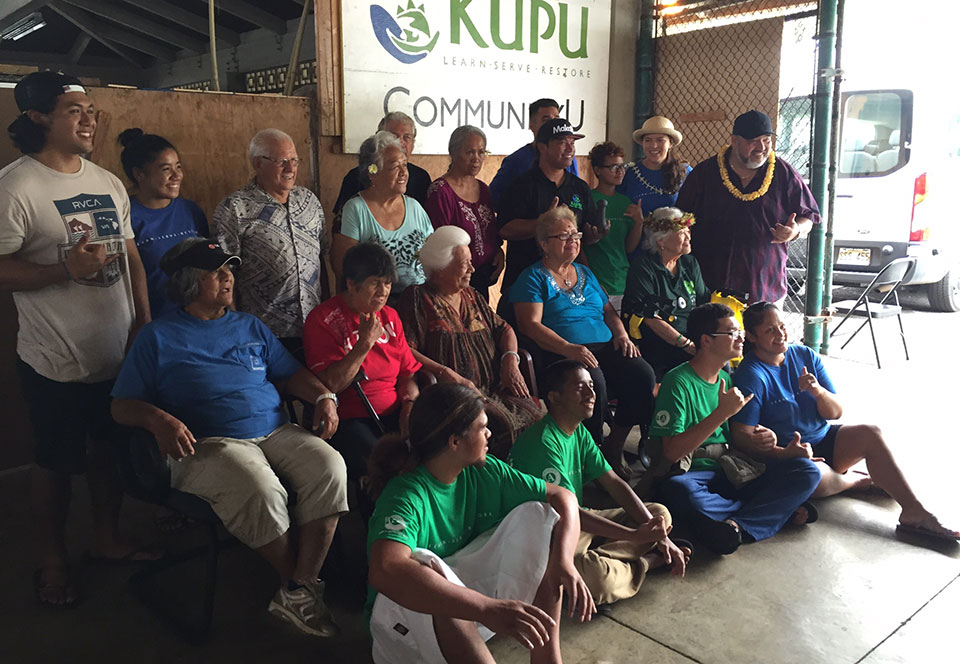 Image of kupuna an pualei together.