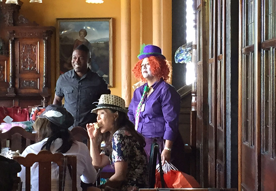 Image of Debra New at the Annual Mad Hatter Tea Party